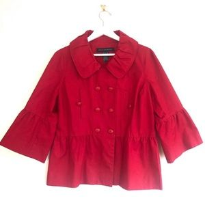 French Connection Flare Sleeve Teddy Swing Coat